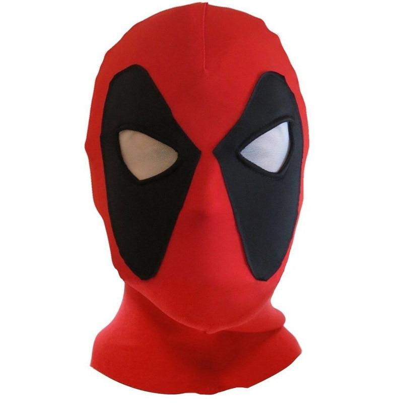 PU Leather Deadpool Masks Superhero Balaclava Halloween Cosplay Costume X-men Hats Headgear Arrow Party Neck Hood Full Face Mask