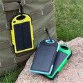 Banco do poder 4000 mah solar portátil carregador de viagem à prova d' água enternal bateria powerbank para xiaomi telefone 5S 6 4S htc rdz483