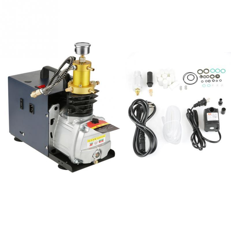 GroßZüGig 220 V Hochdruckpumpe 40mpa Elektrische Luftkompressorpumpe Wassergekühlte Elektrische Luftkompressorpumpe System Luftpumpe Eu Stecker Sanitär Heimwerker