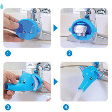 Hot Sale Cute Animals Faucet Extender Baby Tubs Kids Hand Washing Bathroom Sink Faucet Extender Water Tap Extender(China)