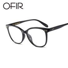 a1b27302bbdc OFIR 2019 Myopia Retro Eyeglass Women Male Frame Glasses Metal Rivets Frame  Round Face Art Flat