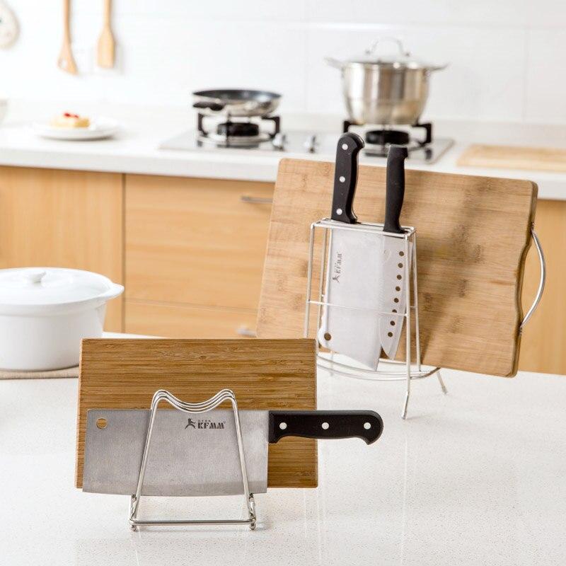 Stainless Steel Knife Stand Cutting board Holder Pot Lid Shelf Plate Dish Rack Kitchen Tool Organizer Storage Rack