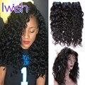 Волна воды 360 Кружева Фронтальной С Связывайте Сорвал Бразильский девственные Волосы С Фронтальная Детские Волосы Человеческие Волосы 360 фронтальная