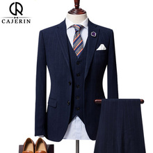 Brand Business  Groom Men Slim Fit Suit Sets (Jacket+Vest+Pants)
