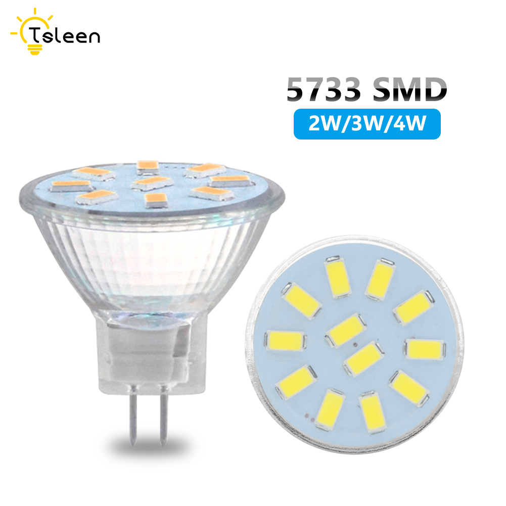 LED MR11 Spotlight Bulb Corn Lamp MR 11 5733 SMD 2W 3W 4W Spot Light Bulb LED Ampolletas AC/DC 24V Bombillas Led Ampoule Led