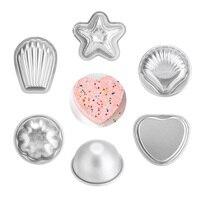 14 Cái/bộ Kim Loại Muối Tắm Bóng Xà Phòng Sphere Khuôn Khuôn Hợp Kim Nhôm Handmade TỰ LÀM Crafting Bánh Nướng Bánh Pastry Khuôn E2S
