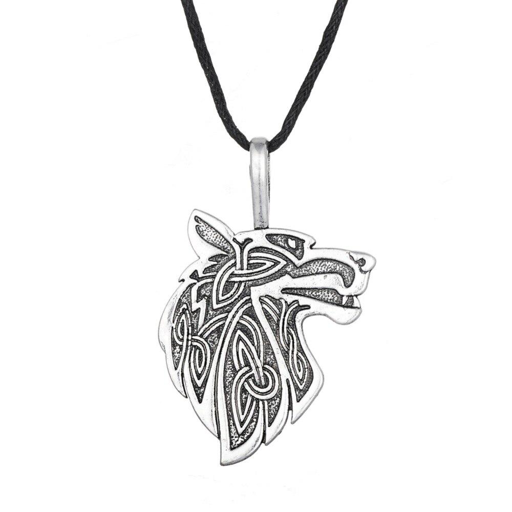 Dawapara Viking necklace Fox Triquetra Fenrir Animal Teen