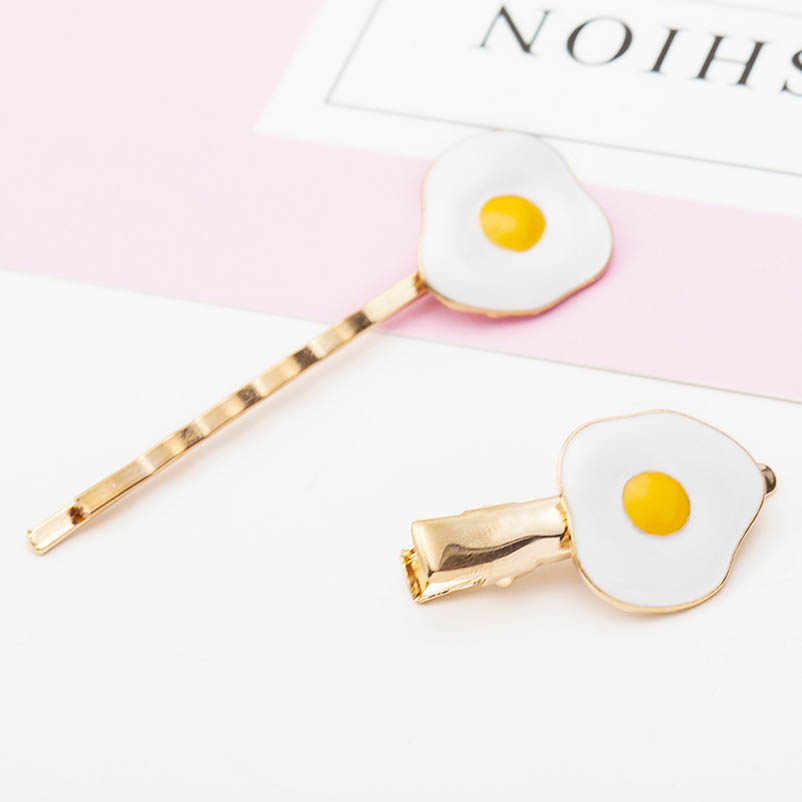 Poached Egg Alloy Hair Clips & Pins Bobby Pins Headwear Hair Accessories for Women