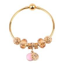 c61eed242ffa Couqcy europeo nuevo oro Original pulsera DIY para las mujeres pulsera  tendencia de la moda de alta calidad regalo joyería calie.