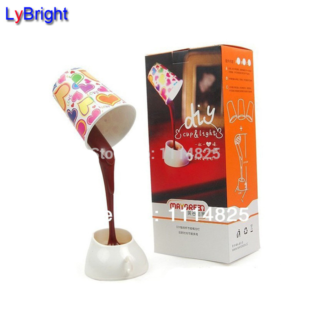 diy led night light led desk lamp novelty diy led night light table lamp coffee with usb or battery for home decoration