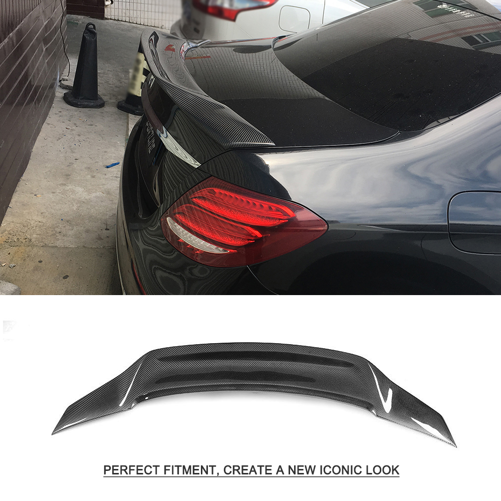 Rear Spoiler for Mercedes-Benz E Class W213 E200 E400 E43 E63 AMG Sedan 4 Door 2016 - 2019 R Style Carbon Fiber Trunk Lip WingRear Spoiler for Mercedes-Benz E Class W213 E200 E400 E43 E63 AMG Sedan 4 Door 2016 - 2019 R Style Carbon Fiber Trunk Lip Wing