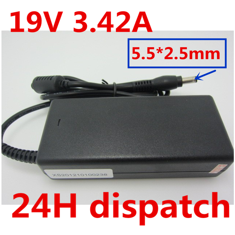HSW 19V 3.42A Charger AC Adapter Power Supply FOR TOSHIBA PA3714E SADP-65KB PA-1650-22 PA3714U-1ACA PA3467E-1AC3 PT43GU-03V05U