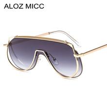 ALOZ MICC New One Pieces Sunglasses Women Brand Designer Oversized Square Sun Glasses for Men High Quality Metal Eyeglasses Q611
