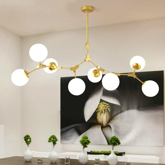 Moderne LED lustre salon lampes suspendues nordique chambre déco luminaires fer art éclairage restaurant lampes suspendues