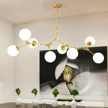 Nowoczesny żyrandol LED salon zawieszone lampy nordic sypialnia deco oprawy oświetlenie żelaza sztuki restauracja światła wiszące