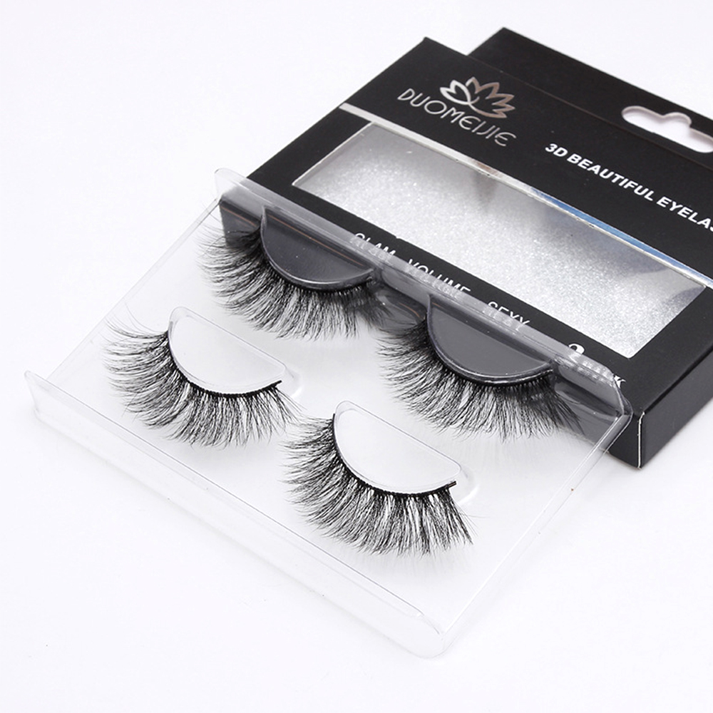 2Pairs Mink Eyelash Extension Natural False Eyelashes Cilios 3D Mink Eye Lashes Long Fake Eyelash Makeup Wimper Kit Eye Lash