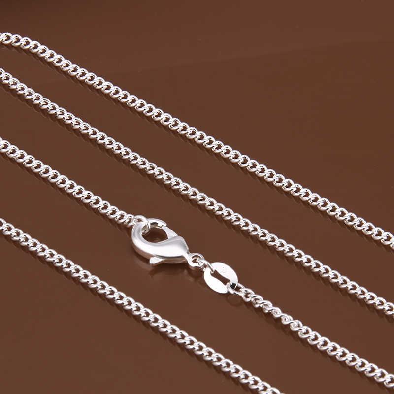 """Phụ nữ của 2 mét chuỗi bên 925 bóc tem bạc mạ 16 """"18"""" 20 """"22"""" 24"""" ngắn Dài Phù Hợp Quyến Rũ dây chuyền quà tặng túi C015"""