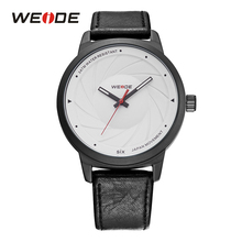 Best Price WEIDE Casual Fashion Model Mens Women High Quality Brand Geniune Leather Strap Belt Quartz Simple Hands Wristwatch