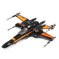 Lepin 05004 WAR on Stars Series The First Order X Shape Wing Fighter For 75102 Bricks Kids Toys Walkie Talkie