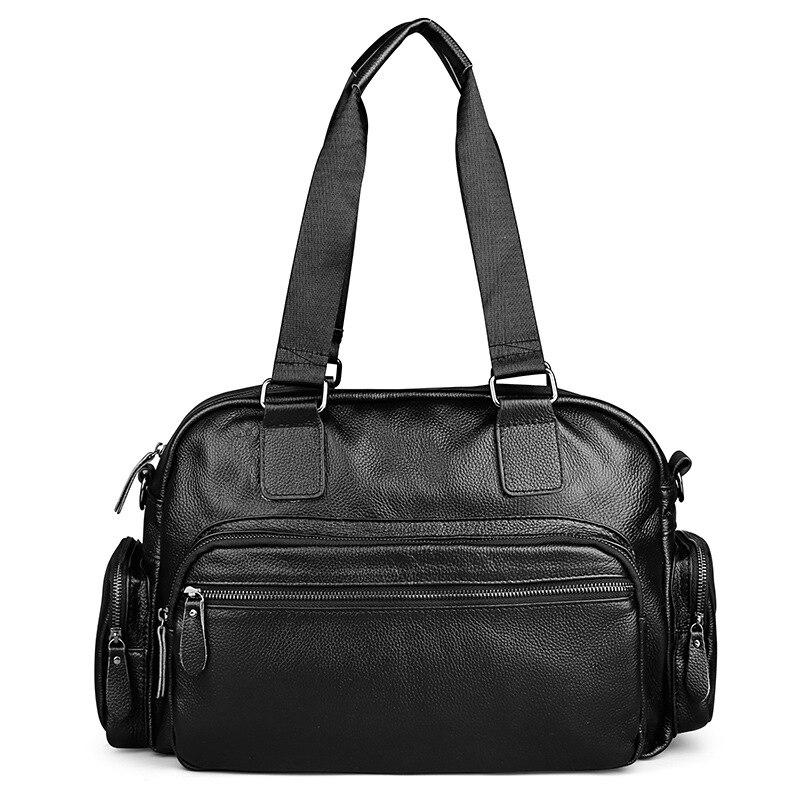 Véritable cuir hommes sacs de voyage voyage bagages femmes mode Totes bagages grand sac homme bandoulière affaires épaule sac à main