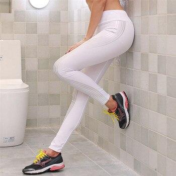 2019 Reflective Leggings Glow in the Dark Night Light Stripes Laser Fitness Pants Tracksuit Fitness Women Female Leggings
