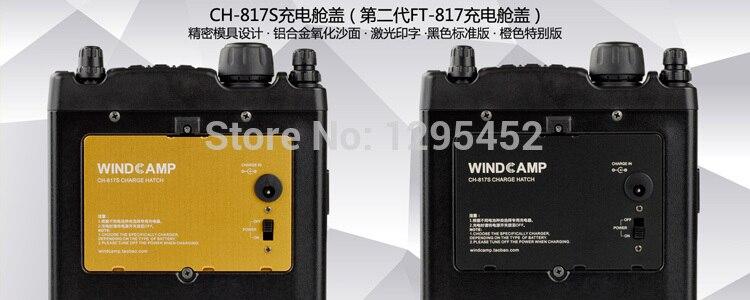 imágenes para Negro / oringe opcional Yaesu FT-817 tapa de la batería CH-817S para FT 817 radio móvil