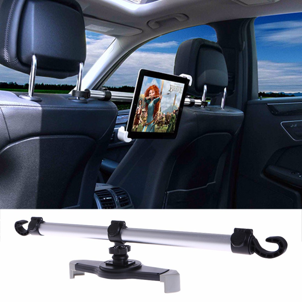 360 Degree Rotation Universal Aluminum Alloy Car Back Seat Mount Stand Holder For Tablet 7-11 baseus 360 degree rotation magnetic car mount holder silver