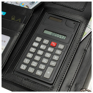Image 5 - BLEL Hot Black A4 Executive Conference Folder Portfolio PU Leather Document Organiser