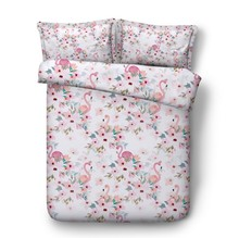 Flamingo Bedding sets 3D Luxury bed cover sheet sheets Cotton quilt duvet covers Super King Queen size full double twin 4pcs