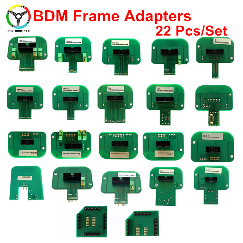 BDM Frame 22pcs/Set Full LED BDM Frame ECU RAMP Adapters Work For KTAG KESS KTM BDM100 ECU RAMP Adapters best quality led bdm frame with 4 probe pens full set 22pcs bdm adapters fit for ktag kess fgtech bdm100 ecu chip proframmer