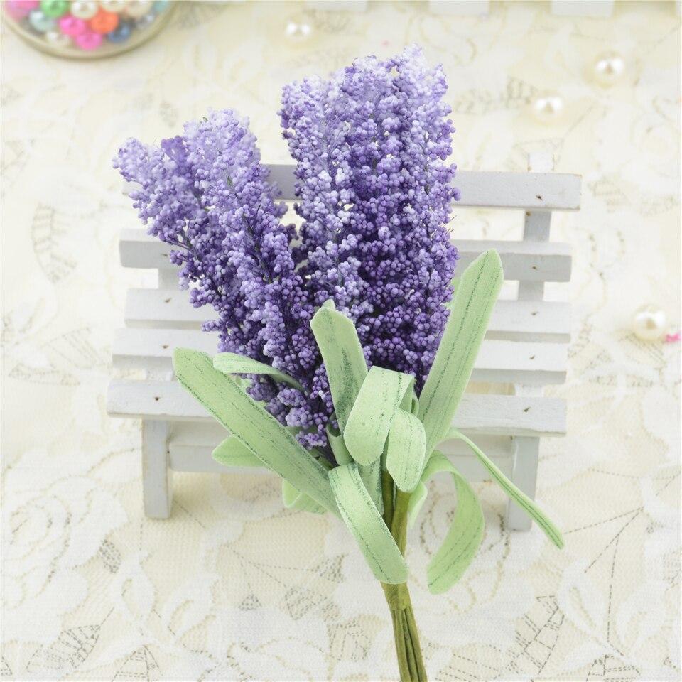 100 Pcs Mousse Lavande Fleur Artificielle Bouquet Pour La Voiture