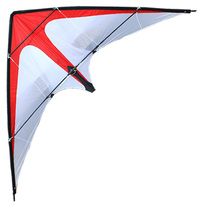 Stunt Kite Handle Dual-Line Good-Flying Outdoor Fun Sports NEW with Red/white