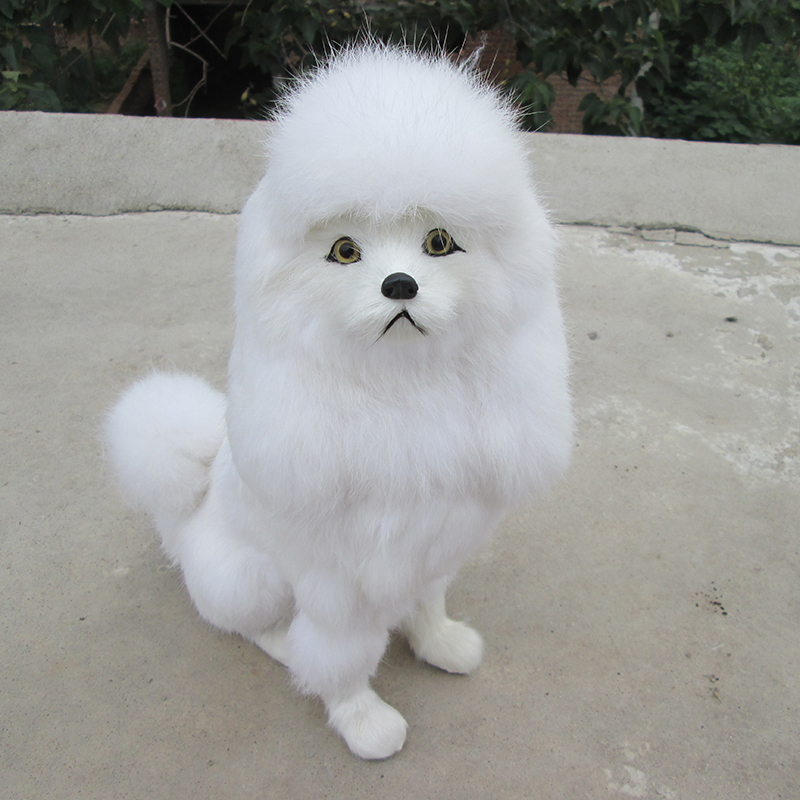 big simulation sitting dog polyethylene & furs poodle dog model doll gift about 23.5x12x31cm  309 big sitting simulation white cat model plastic