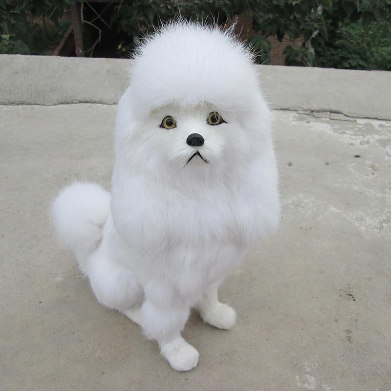 big simulation sitting dog polyethylene & furs poodle dog model doll gift about 23.5x12x31cm  309 simulation male deer 18x25cm model polyethylene