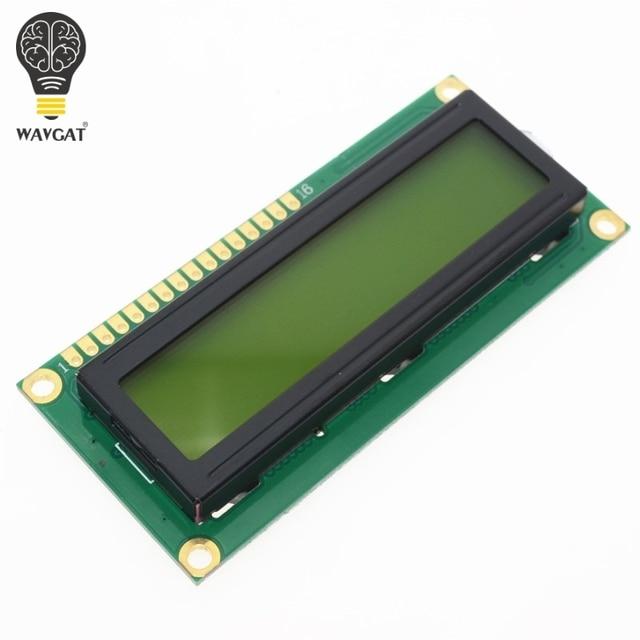 1PCS LCD1602 1602 module green screen 16x2 Character LCD Display Module.1602 5V green screen and white code for arduino WAVGAT