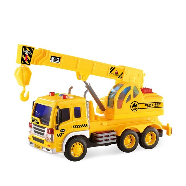 Toy Cranes For Boys : Crane truck toys inertia toy trucks for kids builder