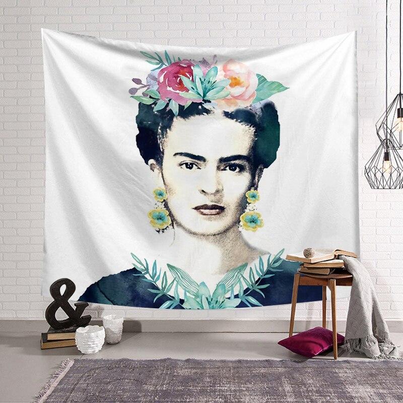 PEIYUAN Hause Dekorative Hänge Wandteppiche Frida Kahlo Self-Portrait Landschaft Tapete Wand Kunst Schal Werfen Wohnkultur