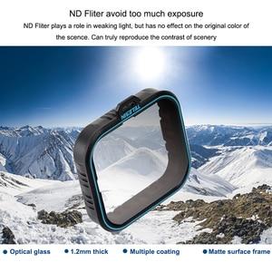 Image 4 - TELESIN 4 Bộ Lọc gói Thiết Lập 3 ND Filter (ND4 8 16) + 1 CPL Đối Với Gopro hero 7 hero 6 hero 7 6 5 bộ lọc phân cực phụ kiện filtre kit