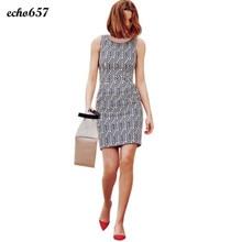 Neue Ankunft Frauen Kleid Echo657 Heißer Verkauf Mode Frauen Sommer Druck Sleeveless Partei-abend Short Mini Kleid Dezember 13