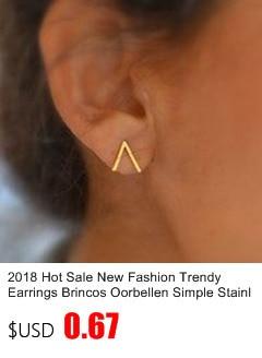 New Earrings Fashion Simple Stud Earrings Personality Trendy Three ways to wear Triangle Earring Wholesale Jewelry Womens Earing 9