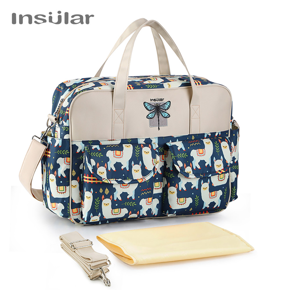 Insular Cartoon Mother Maternity Baby Diaper Bag Large Capacity Mummy Nursing Shoulder Bag Mom Handbag Baby Nappy Stroller Bags