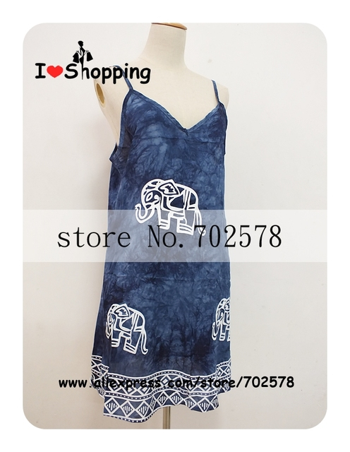 Women Elephant Print Cami Dress Floral Ethnic Casual Dresses Boho Gypsy Cheap Clothes China vestido festa Summer Style Plus Size
