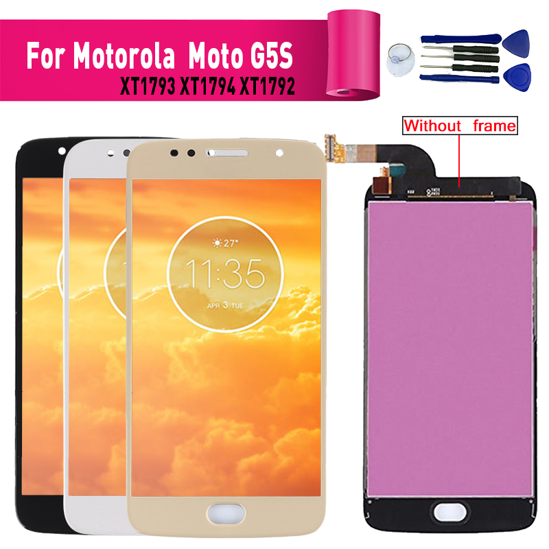 For Motorola Moto G5S XT1795 <font><b>XT1792</b></font> Display <font><b>lcd</b></font> Screen replacement for Motorola G5S XT1793 <font><b>lcd</b></font> display screen completly module image