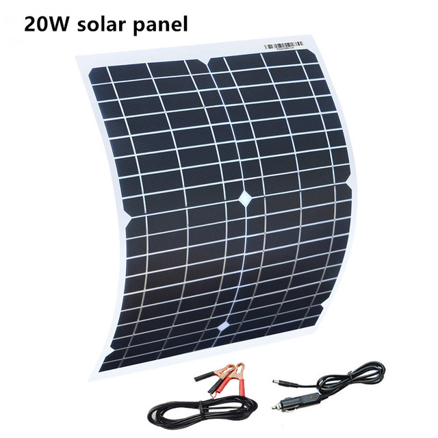 30w 20w 18v flexible solar panel panels solar cells cell module dc for car yacht led light rv 12v battery boat outdoor charger