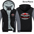 TRIUMPH MOTOCICLETA Logo Men Hoodies Coat Tide Hip Hop Zipper Sweatshirt Jacket Couples Casual Fleece Coat Big Yards