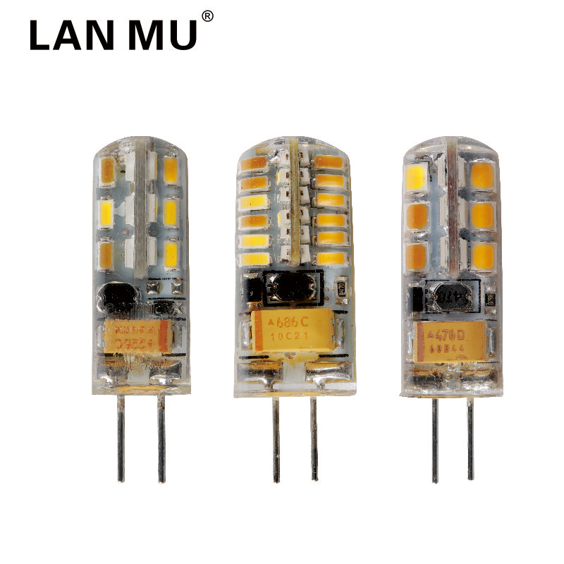 LAN MU 12V AC/DC G4 LED Bulb 24 48LEDs G4 Lamp Light for Crystal Chandelier G4 LED Lights Lamps Replace halogen Spotlight