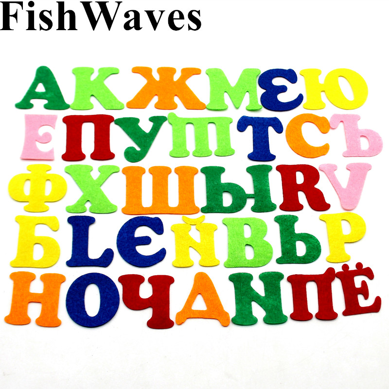33pc Alphabet 1mm Thickness Nonwoven Felting Fabric Handicraft Scrapbooking Polyester Diy Sewing Crafts Letters Work Decoration