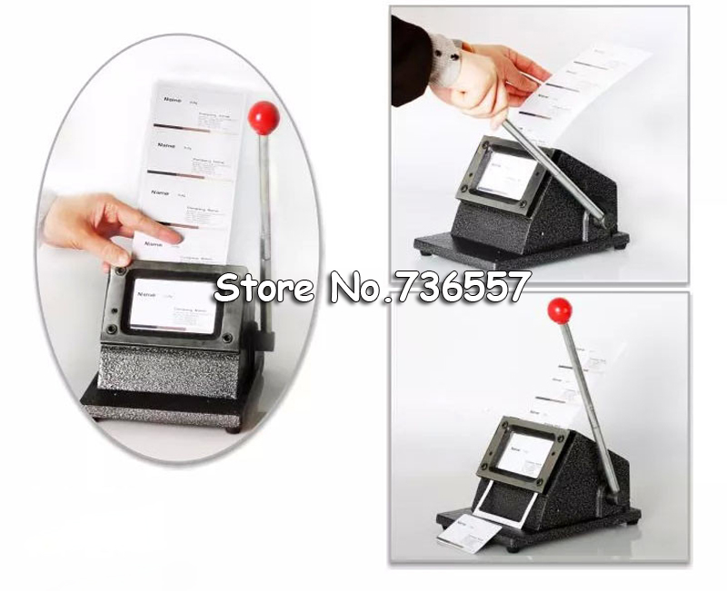 Manual Business Card Cutter Customized Cutting Size Round Corner Office Electronics Paper Trimmer