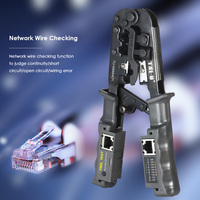 2in1 Multitool Wire Crimp Crimping Tool Testing Pliers Wire Stripper RJ11 RJ12 RJ45 Cable Crimper Wire Cutter Tester TU N5684CR