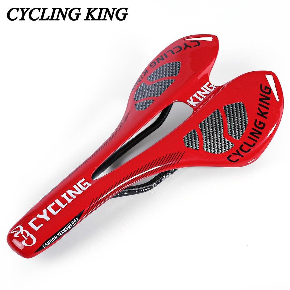 Цена за Передние Сиденья Мат Велоспорт Король Велосипед MTB Велосипед Прочный 3 К полностью Карбоновый Сиденье Седло Для Горных Велосипедов Дорожных Велосипедов 3 цвета